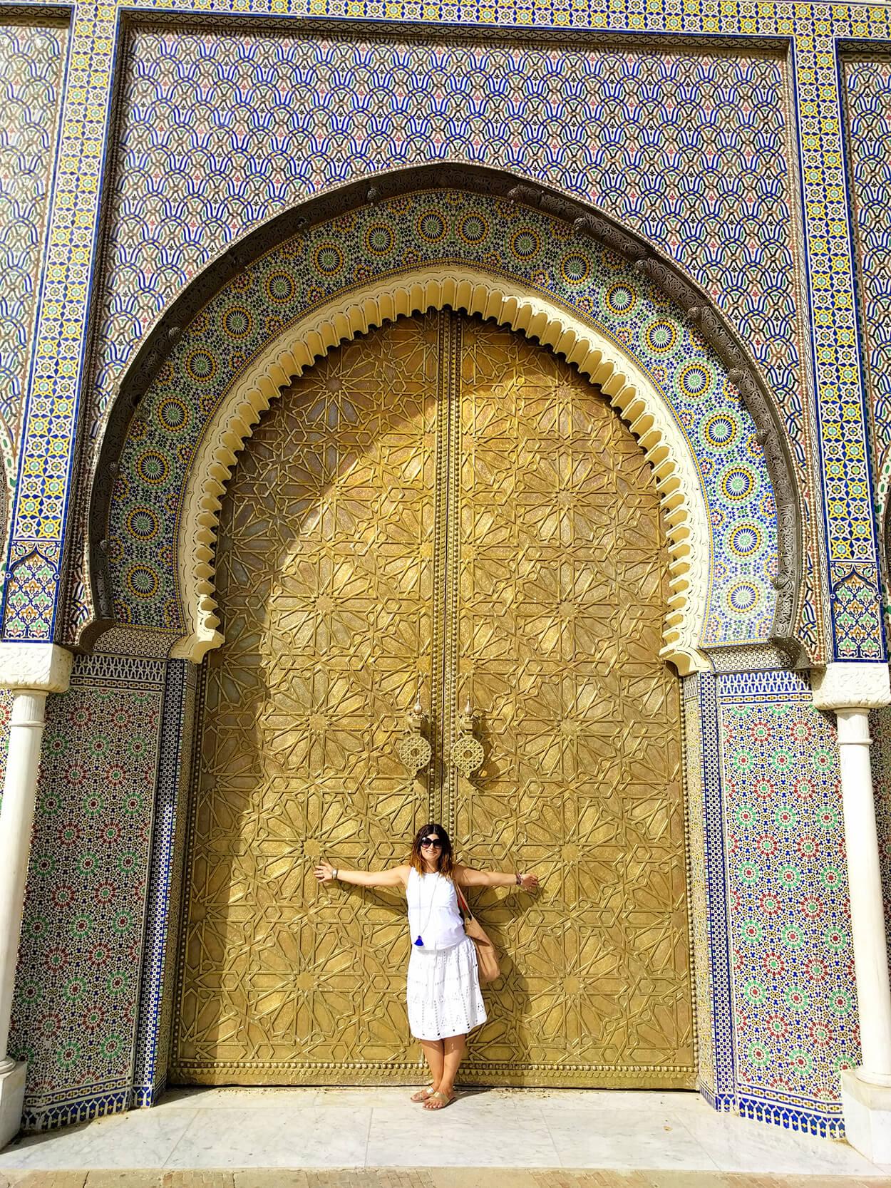 Zlatna kapija kraljevske palate Dar El Makhzen u Fesu, Maroko