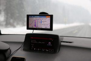 Slika navigacije u autu