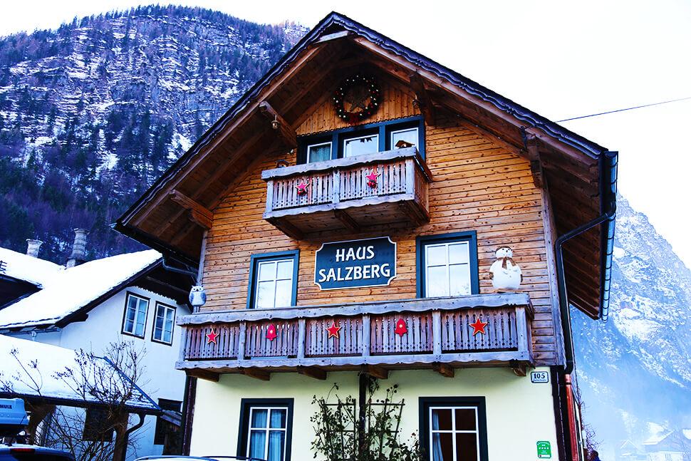 Fotografija kuće Salezberg u Halštatu