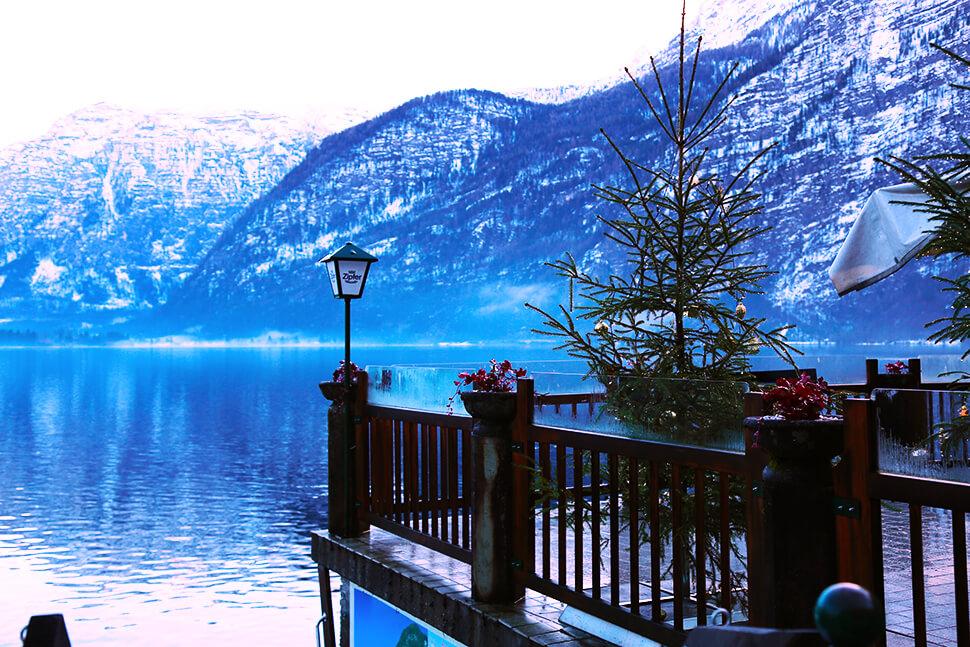 Fotografija terase pored Halštatskog jezera