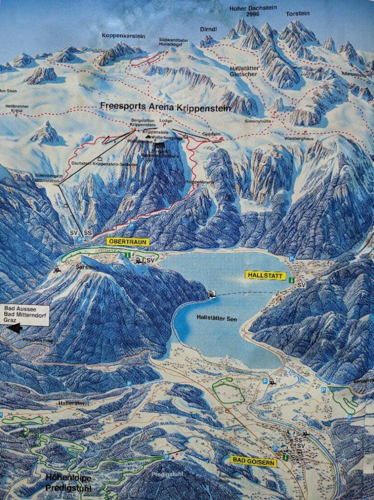 Ilustrovana mapa Halstata i njegove okoline