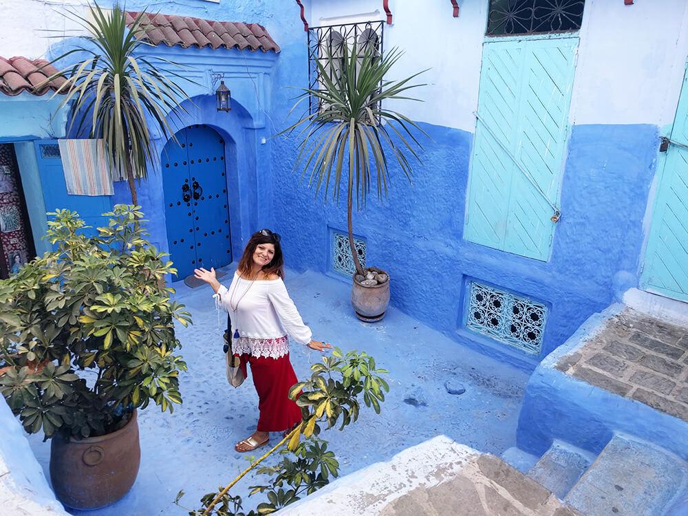 Šefšauen plavi grad - dvorište riada