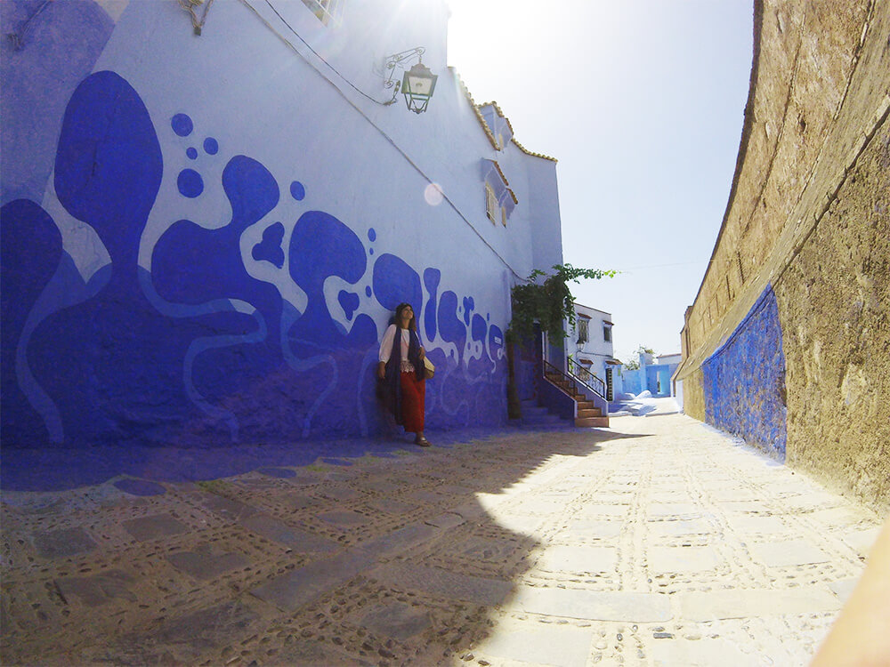 Mural u plavom gradu Šefšauenu