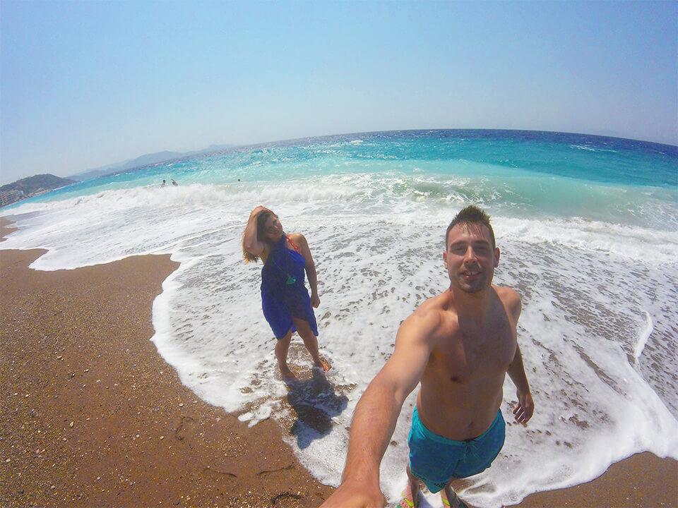 Slika plaže na ostrvu Rodos
