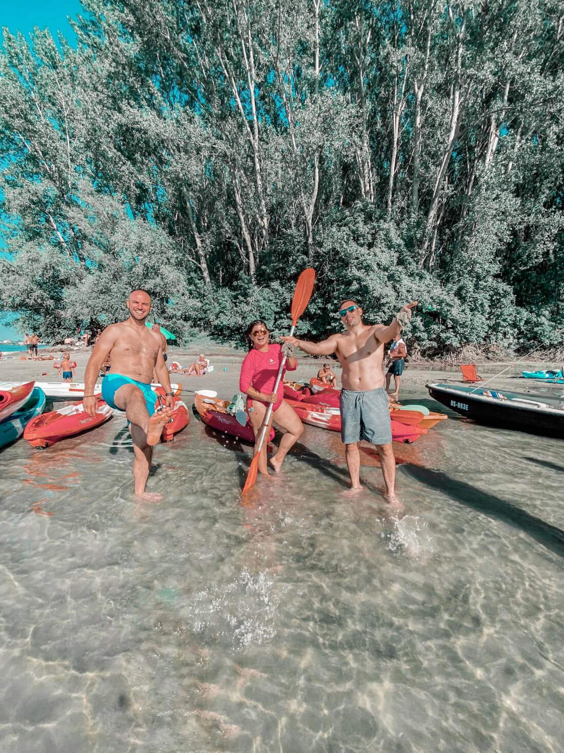 Zabava na plažama Rakovačkog Dunavca.