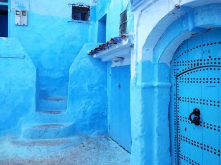 Slika plavih zidova u gradu Šefšauen